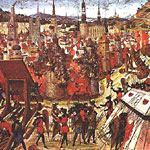image: painting depicting First Crusade