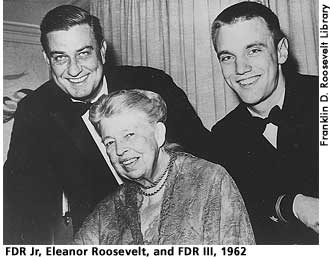 [picture: FDR Jr, Eleanor Roosevelt, and FDR III, 1962]