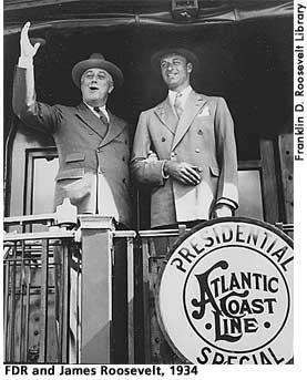 [picture: Franklin D. Roosevelt and James Roosevelt, 1934]