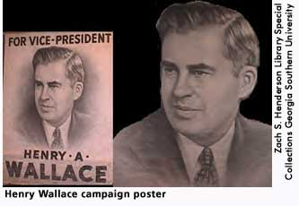 [picture: Henry Wallace campaign poster]