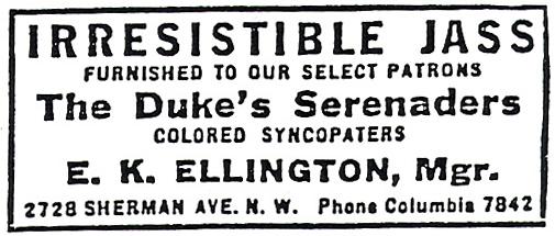 The Duke – Where and When: A Duke Ellington Chronicle 1899-1949