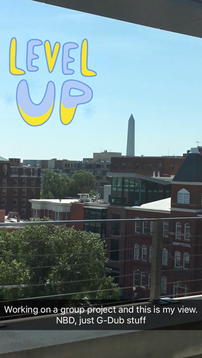 a view of the wasington monument from GW's campus